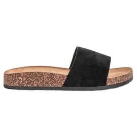 Bello Star Pantoufles noires classiques