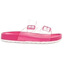 Ideal Shoes rose Flaps Se Transparents Se Boucle