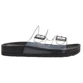 Ideal Shoes noir Flaps Se Transparents Se Boucle