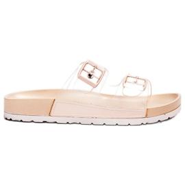 Ideal Shoes brun Flaps Se Transparents Se Boucle
