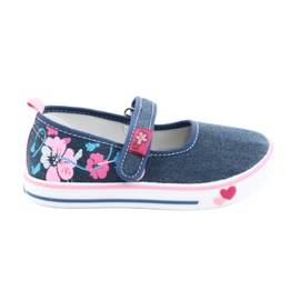 American Club bleu Sneakers Sneakers avec Velcro TEN15