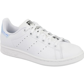 Blanc Adidas Stan Smith Jr AQ6272 chaussures