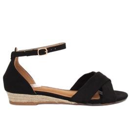 Sandales Espadrilles Noir 9R121 Noir