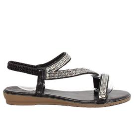 Sandales asymétriques noires KM-33 noires