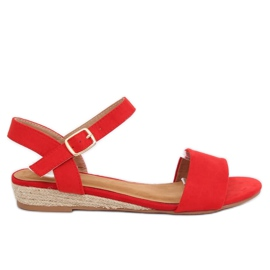 Sandales Espadrilles Rouge 9R73 Rouge