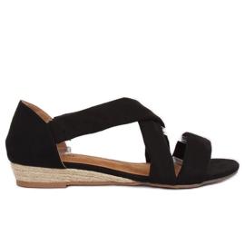 Sandales Espadrilles Noir 9R72 Noir