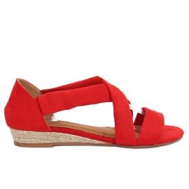 Sandales Espadrilles Rouge 9R72 Rouge