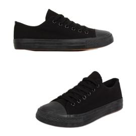Baskets classiques pour femmes noires XL03 ALL-BLACK (semelle noire)