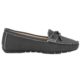 SHELOVET Mocassins occasionnels gris