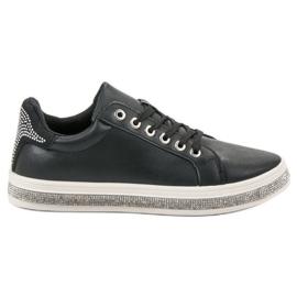 SDS noir Chaussures de sport avec zircons