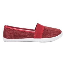 Renda rouge Baskets brocart