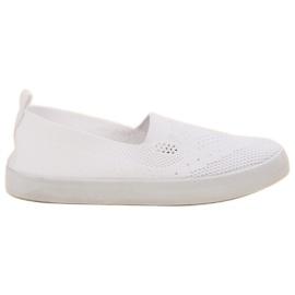 SHELOVET blanc Slipony Textile