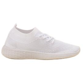 SHELOVET blanc Chaussures de sport à enfiler