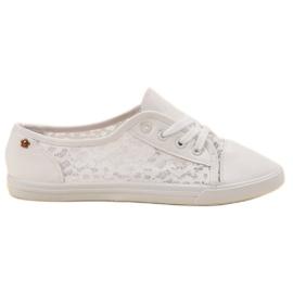 Renda blanc Sneakers Avec Dentelle