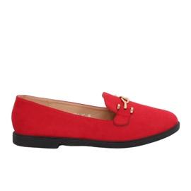 Mocassins Femme Rouge 1631-127 Rouge