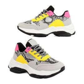Chaussures de sport grises BL169P Snakeskin