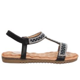 Sandales pour femmes noires HT-67 noir