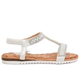 Sandales femme argent HT-67 Argent gris