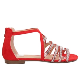 Sandales pour femmes rouge LL6339 Red