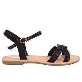 Sandales pour femmes noires et noires WL282 Black
