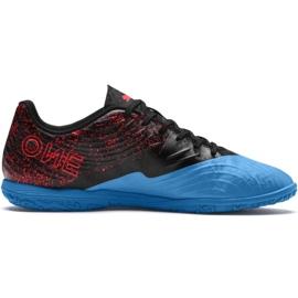 Chaussures de foot Puma One 19.4 It M 105496 01 noir et bleu