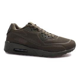 Chaussures de sport en filet vert