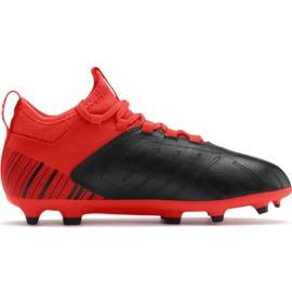 Chaussures de football Puma One 5.3 Fg Ag JR105657 01 rouge noir