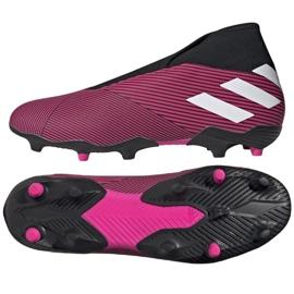 Chaussures de football Adidas Nemeziz 19.3 Ll Fg M EF0372 multicolore rose