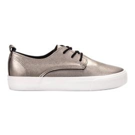 Seastar gris Bottes en cuir écologique