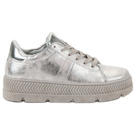 Bestelle gris Chaussures de sport en argent