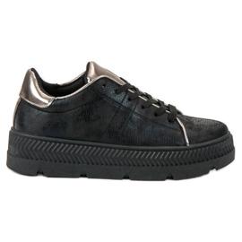 Bestelle noir Chaussures de sport sur la plate-forme