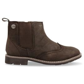 Brun Chaussures Hautement Isolées Nouées 4682 Marron