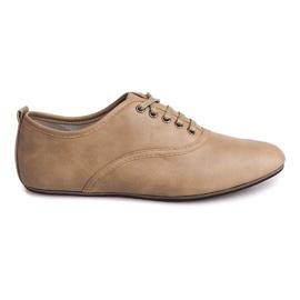 Brun Chaussures élégantes Jazzówki 8312 Beige