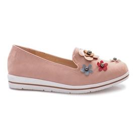 Chaussures compensées à talons compensés multicolores roses