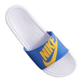 Bleu Chaussons Nike Benassi Jdi Print 631261-104
