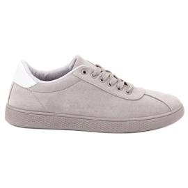 Ideal Shoes Chaussures en dentelle grises