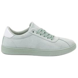 Ideal Shoes vert Chaussures à lacets menthe