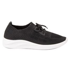 Ideal Shoes noir Chaussures de sport en textile