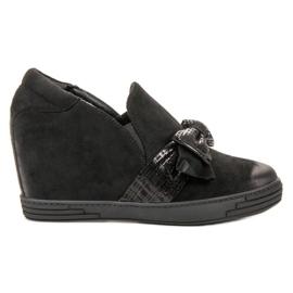 Vinceza Chaussures à talons compensés noir