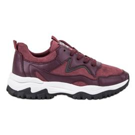 Ax Boxing rouge Chaussures de sport marrons