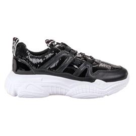 Ax Boxing Sneakers avec des paillettes noir