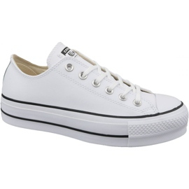 Blanc Converse All Star Lift Clean Ox W Chuck Taylor 561680C