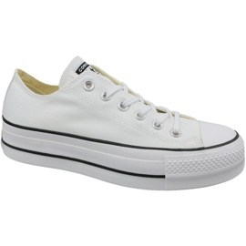 Blanc Converse Chaussures All Star Lift W 560251C Chuck Taylor