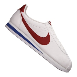 Blanc Chaussures Nike Classic Cortez Leather M 749571-154