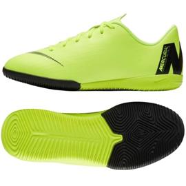 Chaussures Nike Mercurial VaporX 12 Academy Gs Ic Jr AJ3101 701 vertes