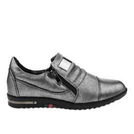 Chaussures grises avec fermeture à glissière H034