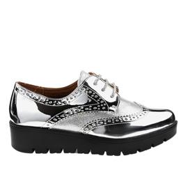 Chaussures à lacets argentées TL-60 gris