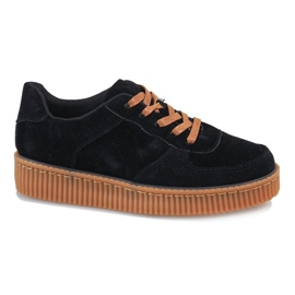 Creepers à lacets noirs 7-K3568A