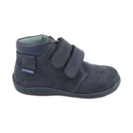 Chaussures garçon avec velcro Mazurek 341 bleu marine