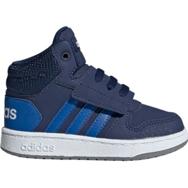Marine Adidas Hoops Mid 2.0 EE6714 chaussures pour enfants